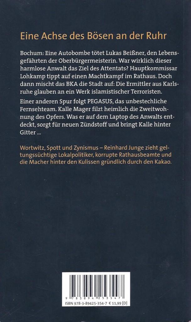 Klappentext: Achsenbruch (Reinhard Junge)