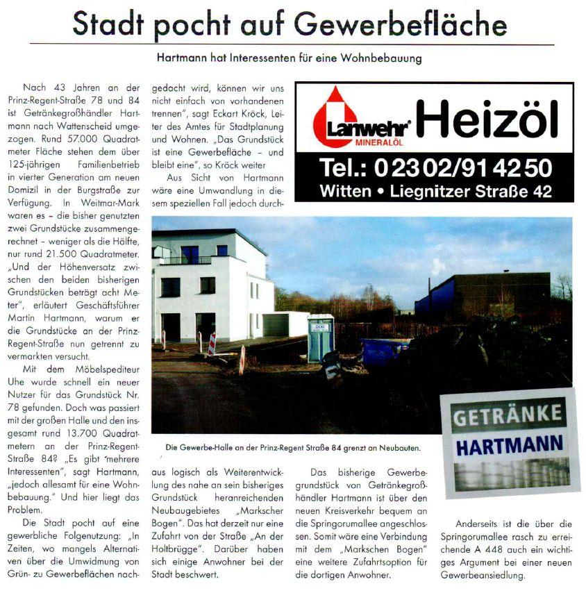 Zweite Zufahrt zum neuen Wohngebiet möglich: über das Hartmann ...
